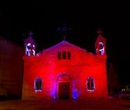 melkite天主教徒的St伊莱亚斯大教堂,圣诞节decoratio 图库摄影