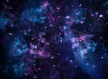 Melkweg, abstracte blauwe achtergrond Stock Afbeeldingen