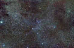 Melkweg in Auriga constellatie stock fotografie