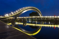 Melkweg Bridge in Purmerend,Netherlands. Melkweg Modern Bridge in Purmerend,Netherlands Stock Image