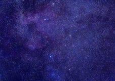 Melkweg in constellatie Cassiopeia royalty-vrije stock fotografie