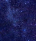Melkweg in constellatie Cassiopeia Royalty-vrije Stock Afbeelding