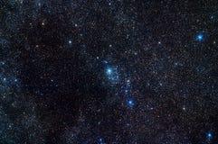Melkweg in constellatie Perseus royalty-vrije stock afbeelding