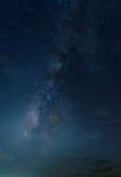 Melkweg in de hemel Stock Foto