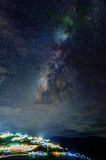 Melkweg in de hemel Stock Foto's