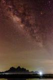 Melkweg in de hemel Stock Fotografie