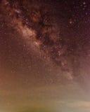 Melkweg in de hemel Stock Afbeelding