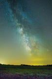 Melkweg dichtbij Ithaca Stock Foto