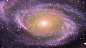 Melkweg in diepe ruimte stock illustratie