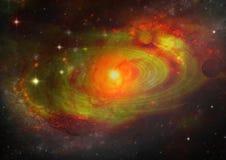 Melkweg in een vrije ruimte vector illustratie