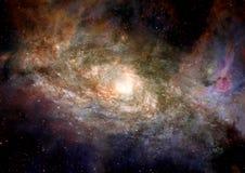 Melkweg in een vrije ruimte royalty-vrije illustratie