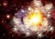 Melkweg in een vrije ruimte stock illustratie