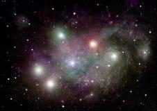 Melkweg in een vrije ruimte stock afbeelding