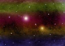Melkweg in een vrije ruimte stock afbeeldingen