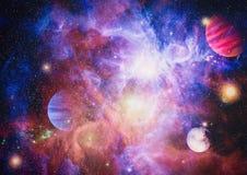 Melkweg en nevel Abstracte ruimteachtergrond Elementen van dit die beeld door NASA wordt geleverd royalty-vrije stock afbeeldingen