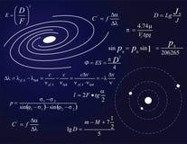 Melkweg en planeten royalty-vrije illustratie