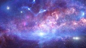 Melkweg en sterren stock afbeelding