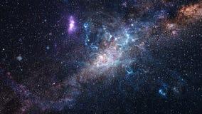 Melkweg en sterren stock illustratie