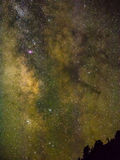 Melkweg en sterren Stock Afbeeldingen
