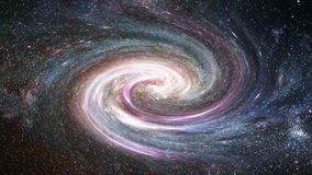 Melkweg en sterren royalty-vrije illustratie