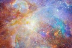 Melkweg ergens in kosmische ruimte Elementen van dit die beeld door NASA wordt geleverd vector illustratie