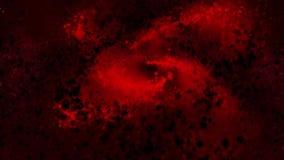 Melkweg rode, spinnende ronde deeltjes met de wijzers van de klok mee, heldere stock illustratie