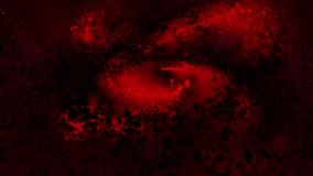 Melkweg rode, spinnende ronde deeltjes met de wijzers van de klok mee, heldere royalty-vrije illustratie
