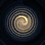 Melkweg in ruimte met sterren Stock Afbeelding