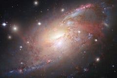 Melkweg, starfield, nevels, cluster van sterren in diepe ruimte Science fictionart. stock afbeelding