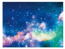 Melkweg sterrige hemel royalty-vrije illustratie