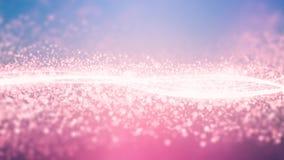 Melkweg van behang de Roze Lichte Kristallen stock afbeelding