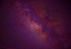 Melkweg van de heelal de ruimte melkachtige manier met vele sterren bij nacht Stock Fotografie