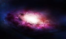Melkwegachtergrond stock illustratie