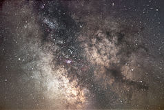 Melkwegmelkweg Kern van Melkweg Mooie nachthemel Echte Sterrige Nacht Echte nachthemel Stock Afbeelding