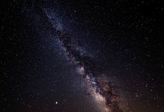 Melkwegmelkweg Nachthemel met sterren stock fotografie