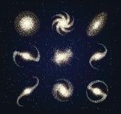 Melkwegtypes astronomie abstracte vector Royalty-vrije Stock Afbeelding