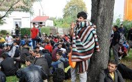 Mellanösten migranter Arkivfoton