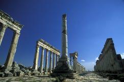 MELLANÖSTEN SYRIEN HAMA APAMEA FÖRDÄRVAR Arkivbild