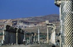 MELLANÖSTEN SYRIEN HAMA APAMEA FÖRDÄRVAR Royaltyfri Bild