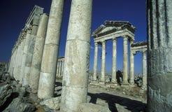 MELLANÖSTEN SYRIEN HAMA APAMEA FÖRDÄRVAR Royaltyfria Foton