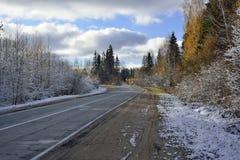 Mellan hösten och vintern Fotografering för Bildbyråer
