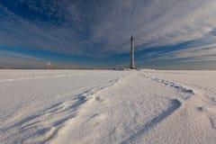 Mellan himmel och havet Fotografering för Bildbyråer