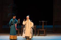"""Mellan monarken och hans ämne-Shanxi Operatic""""Fu Shan till Beijing† Royaltyfri Bild"""