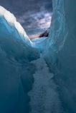 Mellan is och himmel Arkivbild