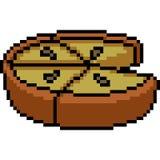Mellanmål för kaka för infall för vektorPIXELkonst vektor illustrationer