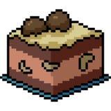 Mellanmål för kaka för infall för vektorPIXELkonst stock illustrationer