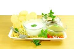 Mellanmål för mat för Marathi för Panipuri eller Gol gappaGujarati indiskt Royaltyfri Bild