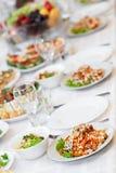 Mellanmål från marinaded champinjoner Royaltyfri Bild