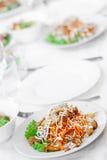 Mellanmål från marinaded champinjoner Royaltyfri Fotografi