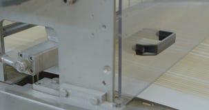 Mellanmålproduktionslinje på fabriken arkivfilmer